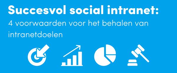 Succesvol social Intranetdoelen behalen (1)